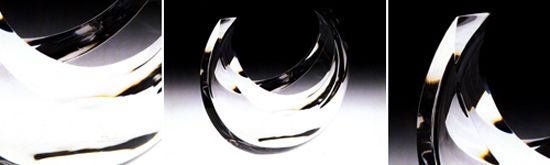Clear crescent bowl ny Jane Beebe