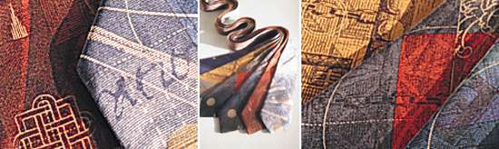 hand painted silk ties by neil bottle