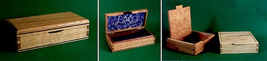 jewellery box and dovetail box by guy lewis
